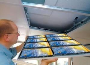 Un exemple de système incluant des panneaux MPC pour gérer la température