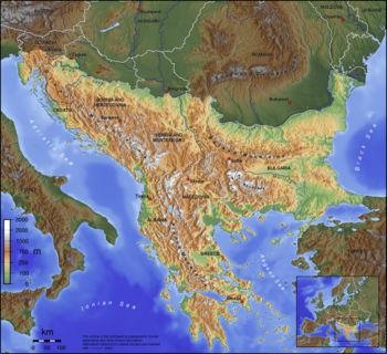 Carte des Balkan