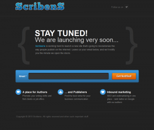 Landing Page ScribenS - Made with Unbounce